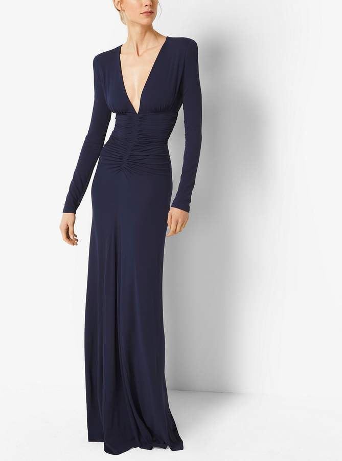 Ruched Stretch Matte-Jersey Gown   Trend lu   Pinterest   Stretches ...