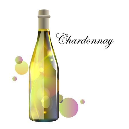 Chardonnay by Maria Rytova #wine , #design , #bottle, #illustration, #vector , #winebottle