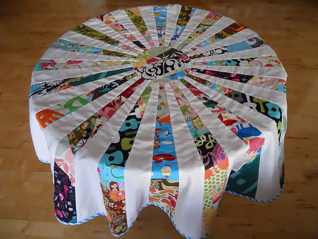 Patchwork Table Cloth Quilts Circle Quilts Crafts