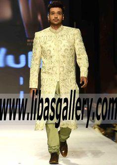 Marvelous sherwani for men from Fashion Pakistan Week #wedding sherwani by #NaumanArfeen. Latest wedding sherwani dresses, #kurta pajama and indian men's clothing and suits #faisalqurieshi #legacy #weddingwear #Asianweddings #pakistanimenswear #pakistaniweddings #men #bespoke #menswear #mensfashion #indianweddings #heritage #traditional #couture #shawls #fashion #highfashion #ethnic http://www.libasgallery.com/Designer%20Sherwanis.htm UK USA Canada Australia Saudi Arabia Bahrain Kuwait.