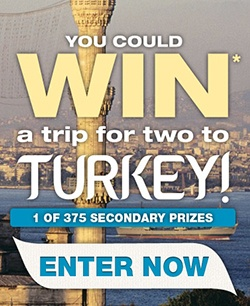 Win a Trip for Two to Turkey    Enter here: http://free4him.ca/sweepstakes/win-a-trip-for-two-to-turkey/