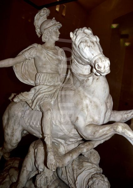 18th century satue of alexander the great (356-323 BC) on horseback.