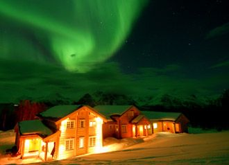 Northern Lights at Lyngen Lodge, Norway