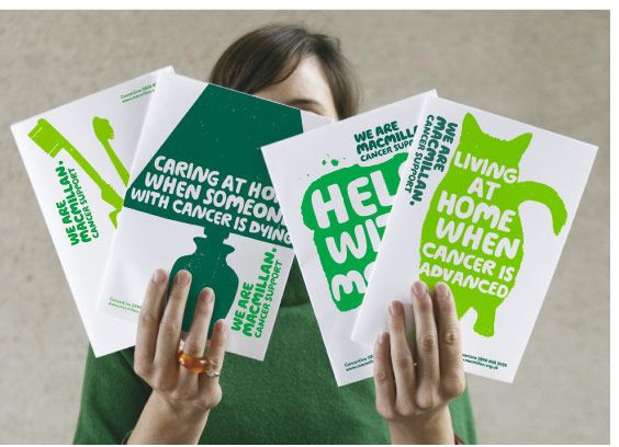 Macmillan cancer support brand marque by Wolff Olins