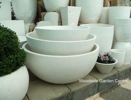 Extra Large Terrazzo Ocean Bowl Round White Planters 400 x 300
