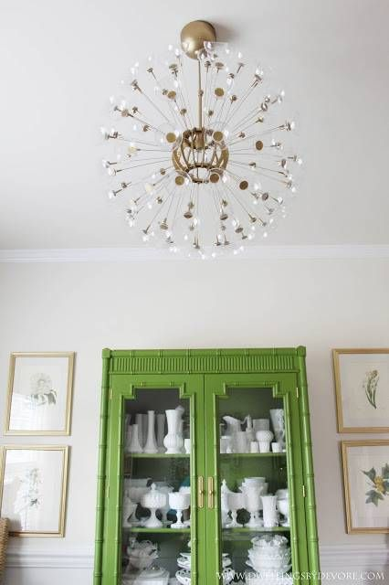 DIY Ikea Sputnik Chandelier  transform a $59.99 MASKROS chandelier into this amazing fixture with gold accents