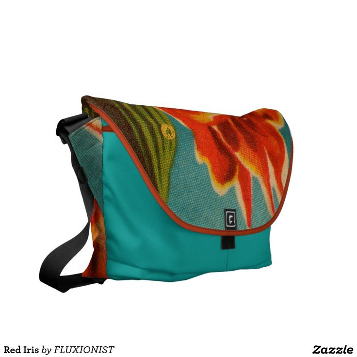 Do you see how this thing could elevate your hotness to another dimension? Red Iris Messenger Bag - $130.00 Made by Rickshaw Bagworks / Design: Fluxionist
