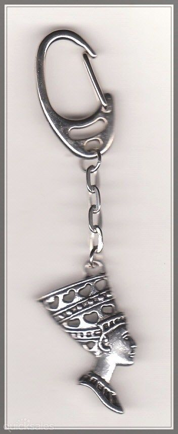 Queen Nefertiti Charm Swivel Keyring  by MadAboutIncense - $8.50