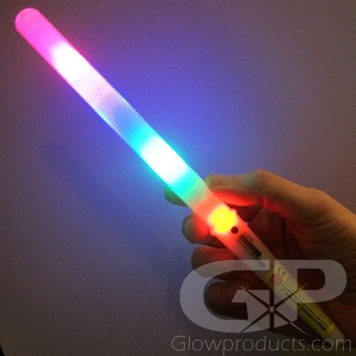 11 Inch LED Light Sticks with Multi-Color Settings - Use as Glowing Cotton Candy Sticks! - https://glowproducts.com/us/cotton-candy-light-stick #GlowSticks #CottonCandy