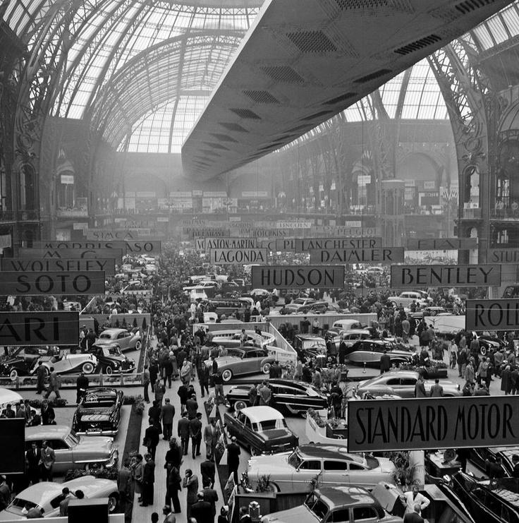 salon de l 39 automobile 1953 organis dans la nef du grand palais paris auto show salon de l. Black Bedroom Furniture Sets. Home Design Ideas