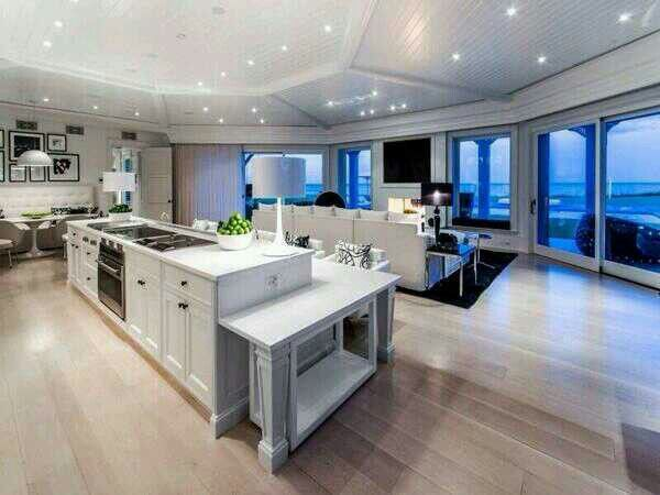 White Kitchen, Light Wood Floors   Time For Home   Pinterest   White  Kitchens, Layout And Modern Kitchens