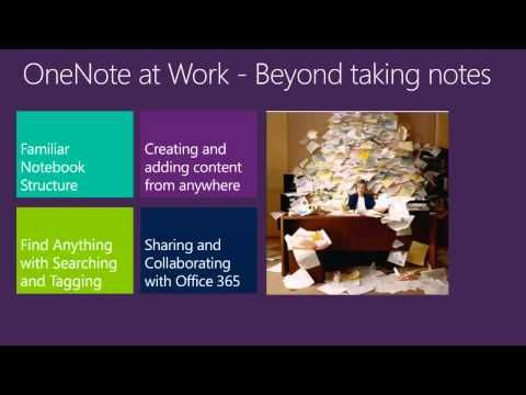 Microsoft OneNote: Capture, Organize, and Share Notes across Devices - YouTube  ONE HOUR TEN MINUTE VIDEO