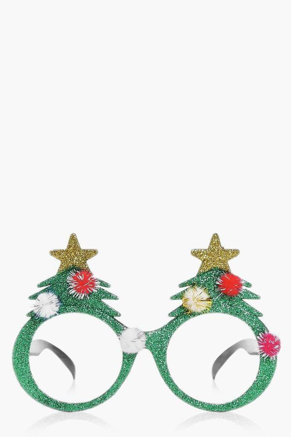 boohoo Taylor Christmas Tree Novelty Sunglasses