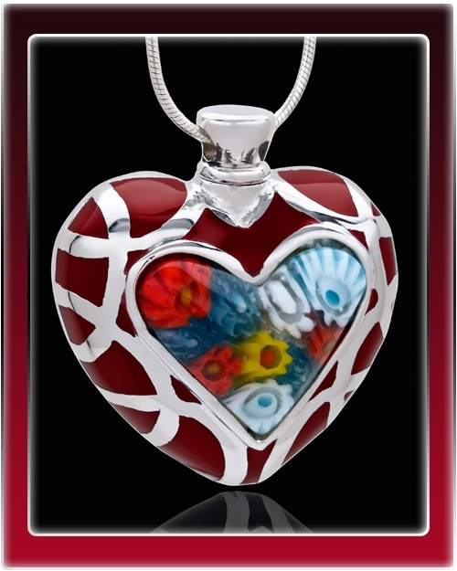 Whispering Memories Heart Cremation Jewelry $39.99