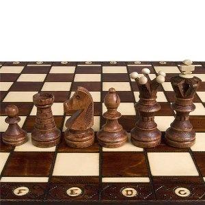 The Chess Set Ambassador High Detail European Wooden Handmade Set Board King