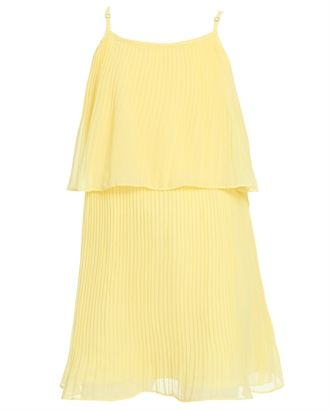 Girls Tiered Pleat Dress - Bardot Junior