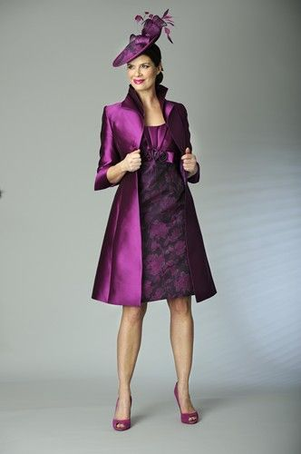 17 Best Images About Wedding Outfit On Pinterest Mothers Satin Deep Purple Mother Of The Bride Dress