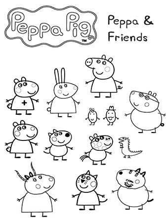 Peppa and Friends | Crafts | Pinterest | Peppa pig, Peppa pig ...