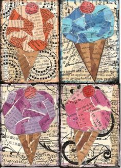 Like the texture the newspaper gives and the different values. Great tints and shades lesson! Good theme for a mosaic project.