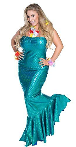 delicate illusions plus size ocean nymph mermaid womens halloween costume 2x 16 18 - Size 18 Halloween Costumes