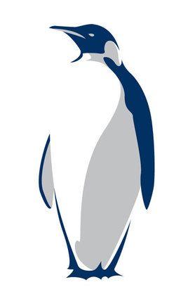 Sick penguin illustration. Cool color scheme