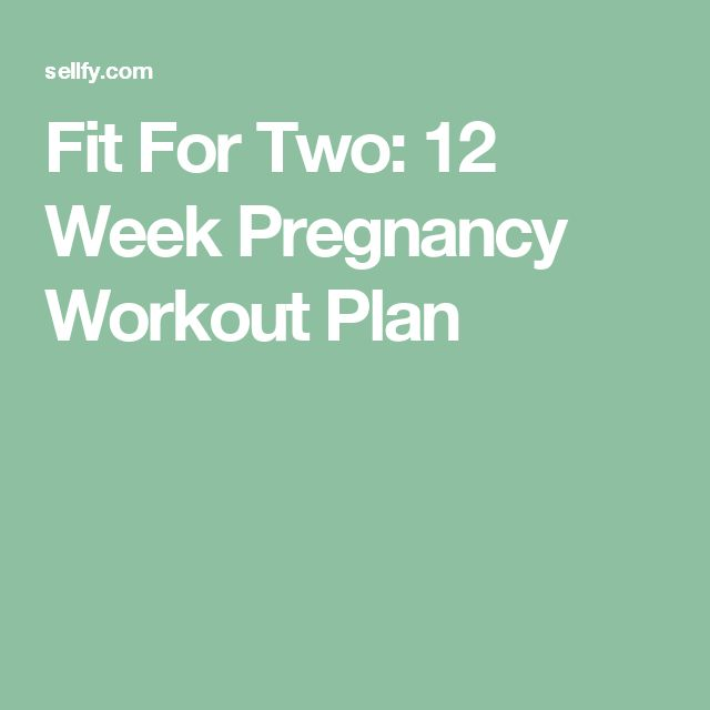 Fit For Two: 12 Week Pregnancy Workout Plan
