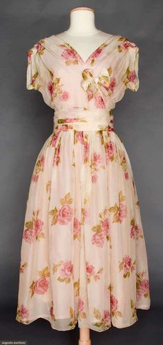 CHRISTIAN DIOR COUTURE PARTY DRESS, S-S 1956