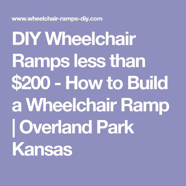 DIY Wheelchair Ramps less than $200 - How to Build a Wheelchair Ramp | Overland Park Kansas
