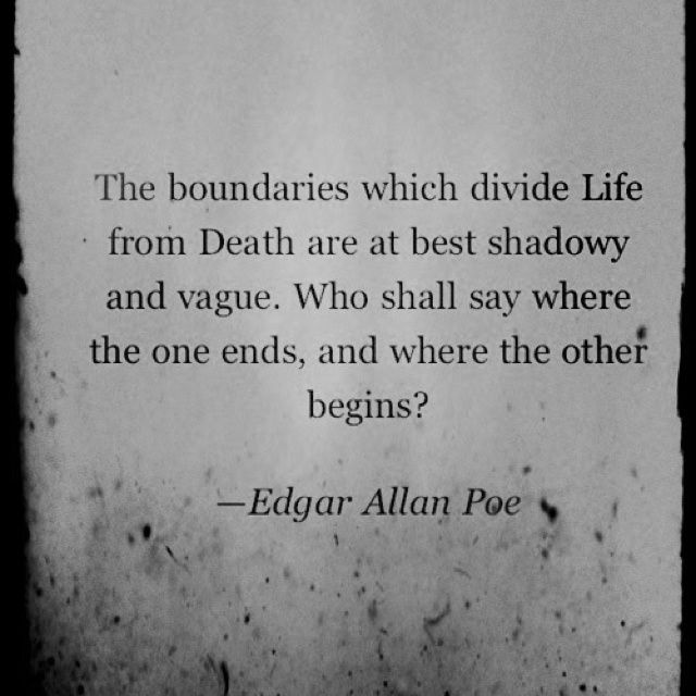 edgar allan poes fear of self For shy girl, poe's rapping and tapping inspired more than fear  and so i  initially greeted edgar allan poe's complete tales & poems with a sense of  prudish horror  i felt almost as though i'd scared myself alive.