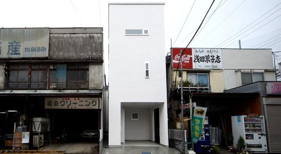Narrow house photo - can you imagine building a nice new tiny narrow house with these on either side?