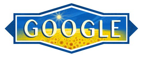 Ukraine Independence Day 2016  Date: August 24 2016  Today marks the 25th anniversary of Ukraines Declaration of Independence. To honor this day the Google homepage is dressed up in a field of sunflowers one of Ukraines most beloved flowers.  In Kiev today there will be a military parade and various celebrations. Ukrainians will typically don folk costumes and watch fireworks. All beneath the bright blue and yellow of the Ukrainian flag.  Happy Independence Day Ukraine!  Location: Ukraine…