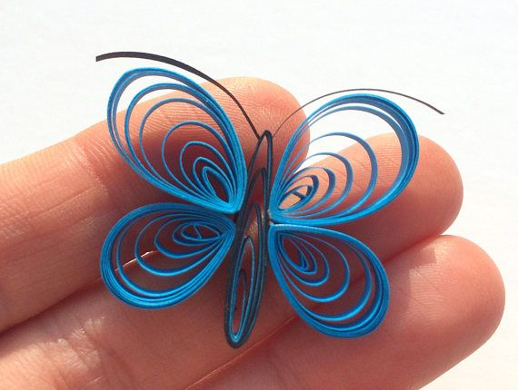 Quilled Butterflies Paper Quilling Art Confetti Scatter Ornament Gifts Fillers Valentines Mothers Day Baby Bridal Shower Wedding Blue Spring These are unique handmade quilled butterflies. Perfect for any joyful occasion! Can be used as dinner table confetti decorations for baby