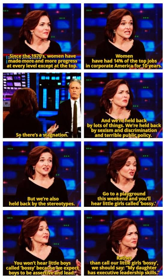 Sheryl Sandberg - Don't Call Girls Bossy, Call Them Leaders! | #Feminism #Sexism #Genderism