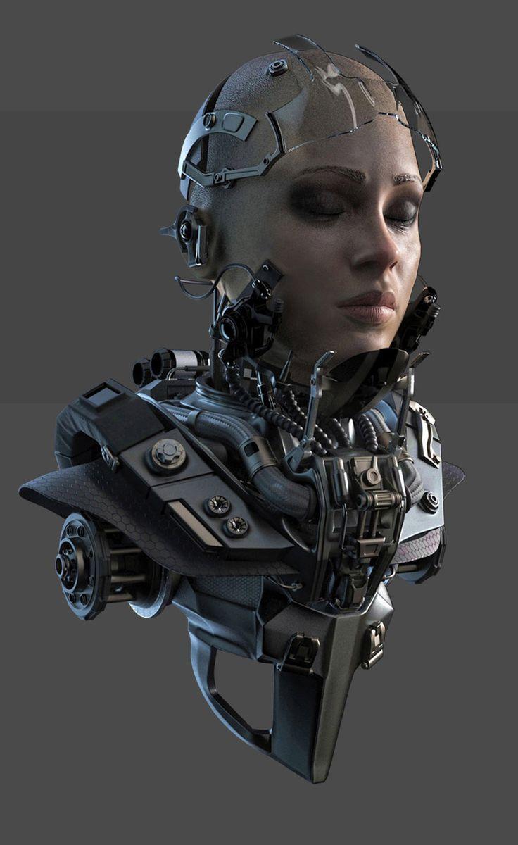 ArtStation – Cyborg Bust, RORY BJÖRKMAN – #ArtSta…