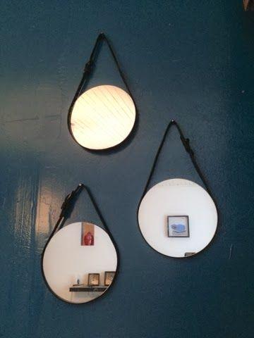 caractériELLE: DIY : de petits miroirs cuirs..:
