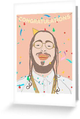 Congratulations Post Malone greeting card
