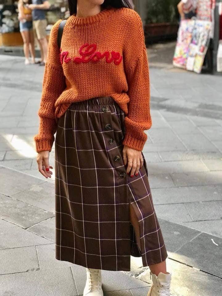 more photos e3617 6b322 Style #Modafemminile Maglia di lana girocollo € 29,00 Gonna ...