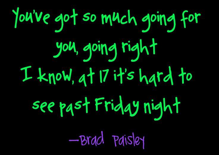 Brad Paisley Country Song Lyrics Quotes