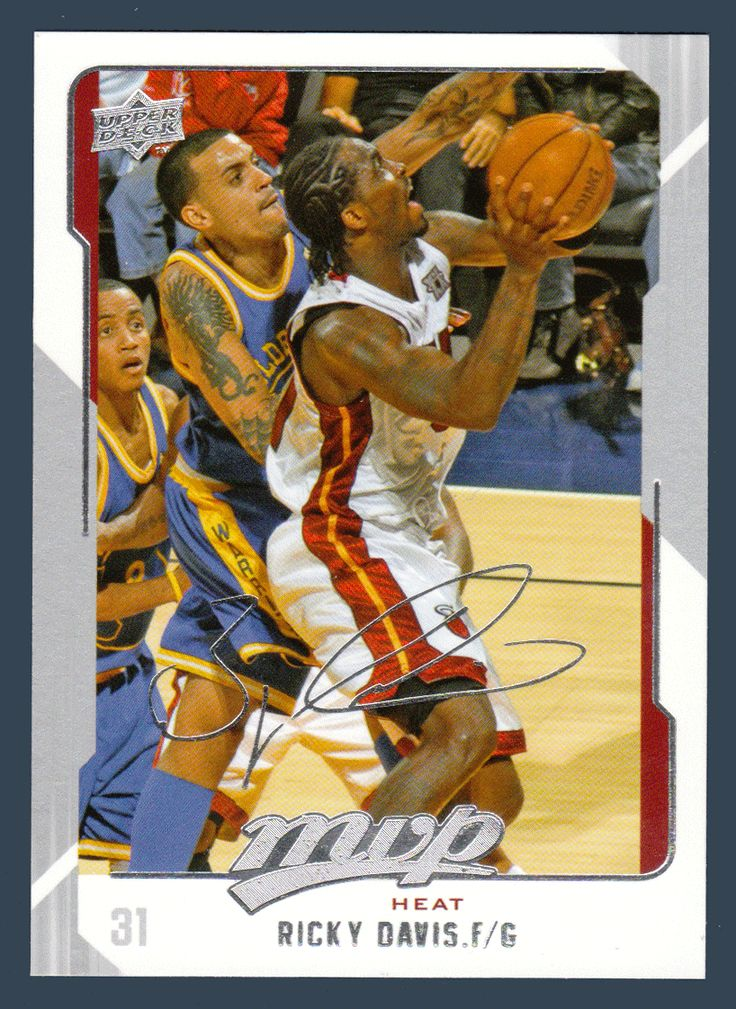 Ricky Davis # 82 - 2008-09 Upper Deck MVP Basketball Silver Script