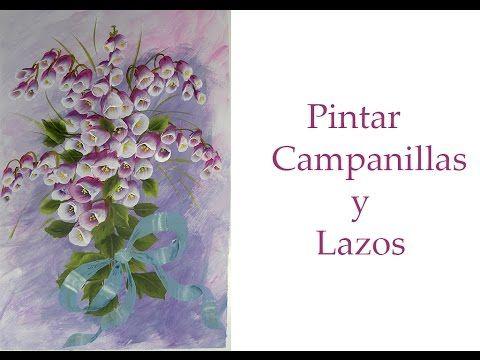 Pintar flores , campanillas y lazos , campanilas paint and bows - YouTube