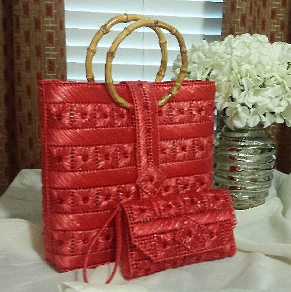 Helena Sassy Unique Handbags & Wristlets - The Original in Bright Coral Red