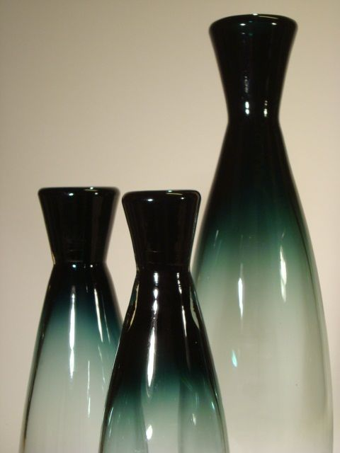 """Vases from the """"Tona"""" series designed for Johansfors by Bengt Orup"""
