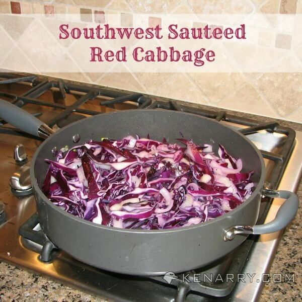 Southwest Sautéed Red Cabbage is a creative and colorful side dish. If you love this vegetable, then this is a red cabbage recipe you definitely must try.