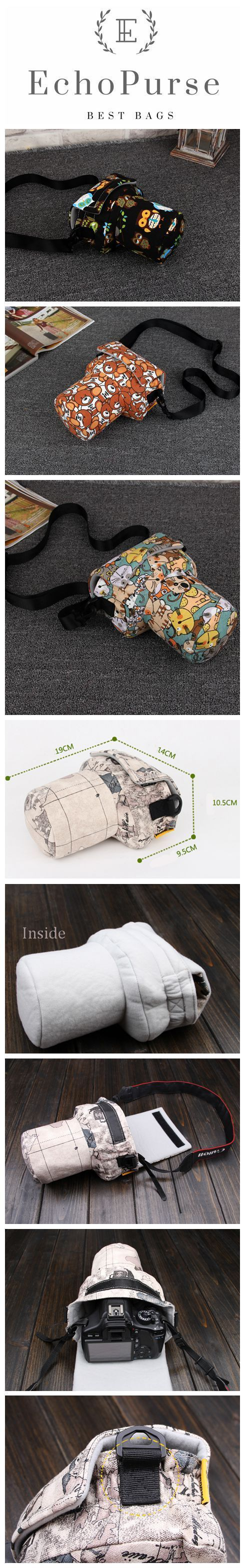 Handmade Cute SLR Camera Bag, Fashion Photography Bag, Carrying Case For EOS Nikon Pentax Olympus A113-1