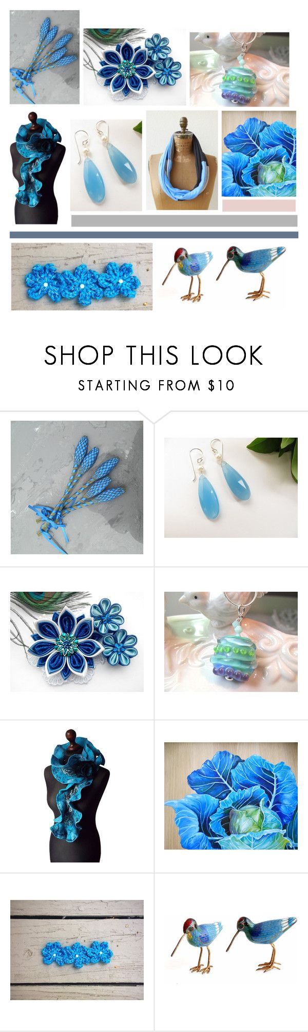 """""""Seaside Blues"""" by inspiredbyten ❤ liked on Polyvore featuring vintage"""