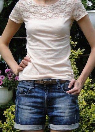Kup mój przedmiot na #vintedpl http://www.vinted.pl/damska-odziez/koszulki-z-krotkim-rekawem-t-shirty/16488569-t-shirt-koszulka-koronka-pudrowy-roz-xs-hm