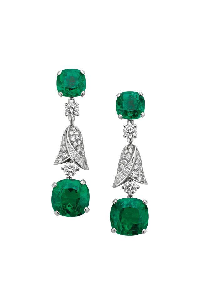 BVLGARI ~ Emerald and Diamond Earrings