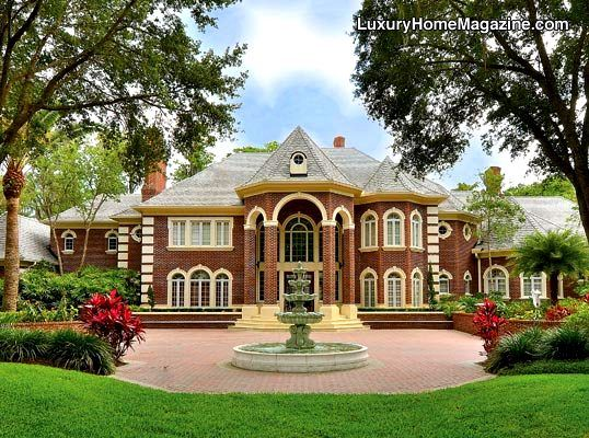 Luxury Home Magazine Tampa Bay Homes Front Yard Landscaping Entrance Driveway Ho Real Estate Properties