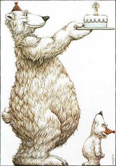 Медведи белые открытки с днем рождения