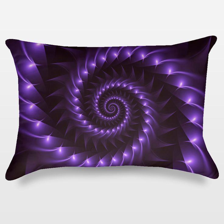 Fun Indie Art from BoomBoomPrints.com! https://www.boomboomprints.com/Product/kittybitty/Glossy_Purple_Spiral/Throw_Pillows/Rectangular-_14x20/